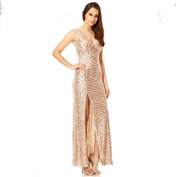 60c8ea8f9c Quiz Dresses   Rose Gold Sequin Dress Nwt   Poshmark